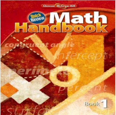 quick review math handbook book 3
