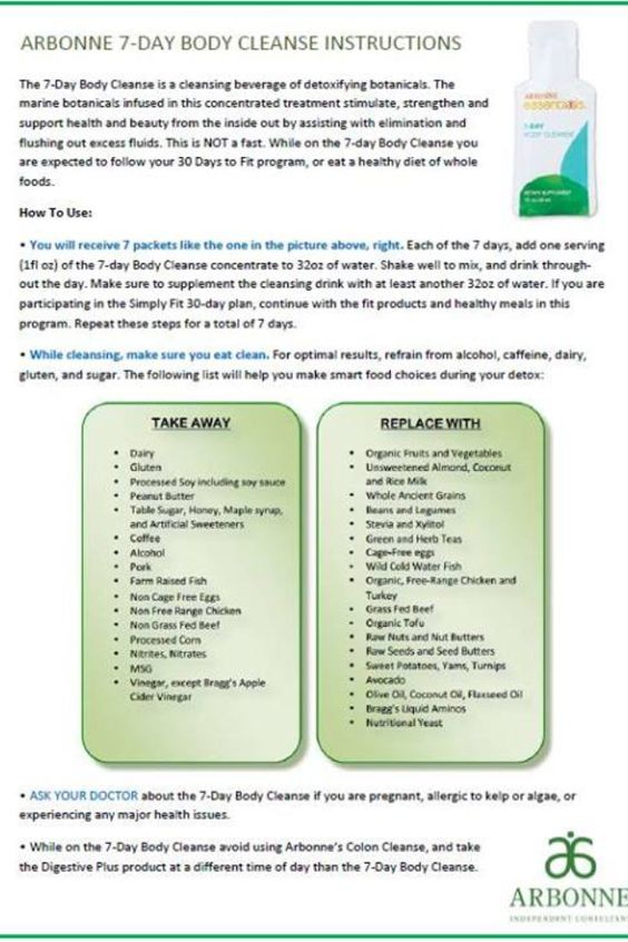 arbonne 7 day cleanse reviews