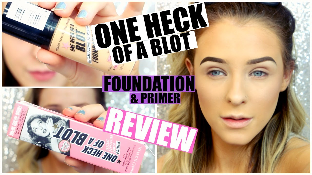 soap and glory one heck of a blot review