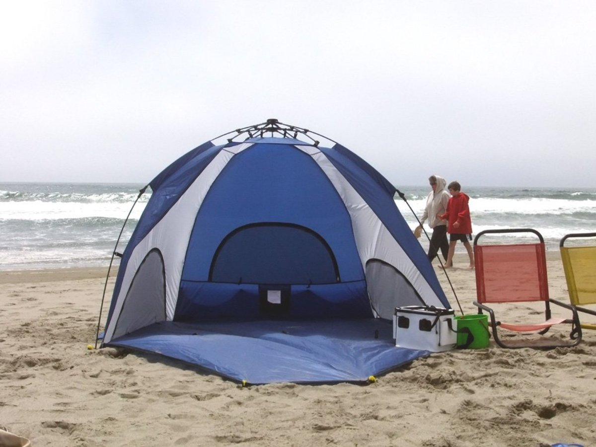 pop up beach shelter review