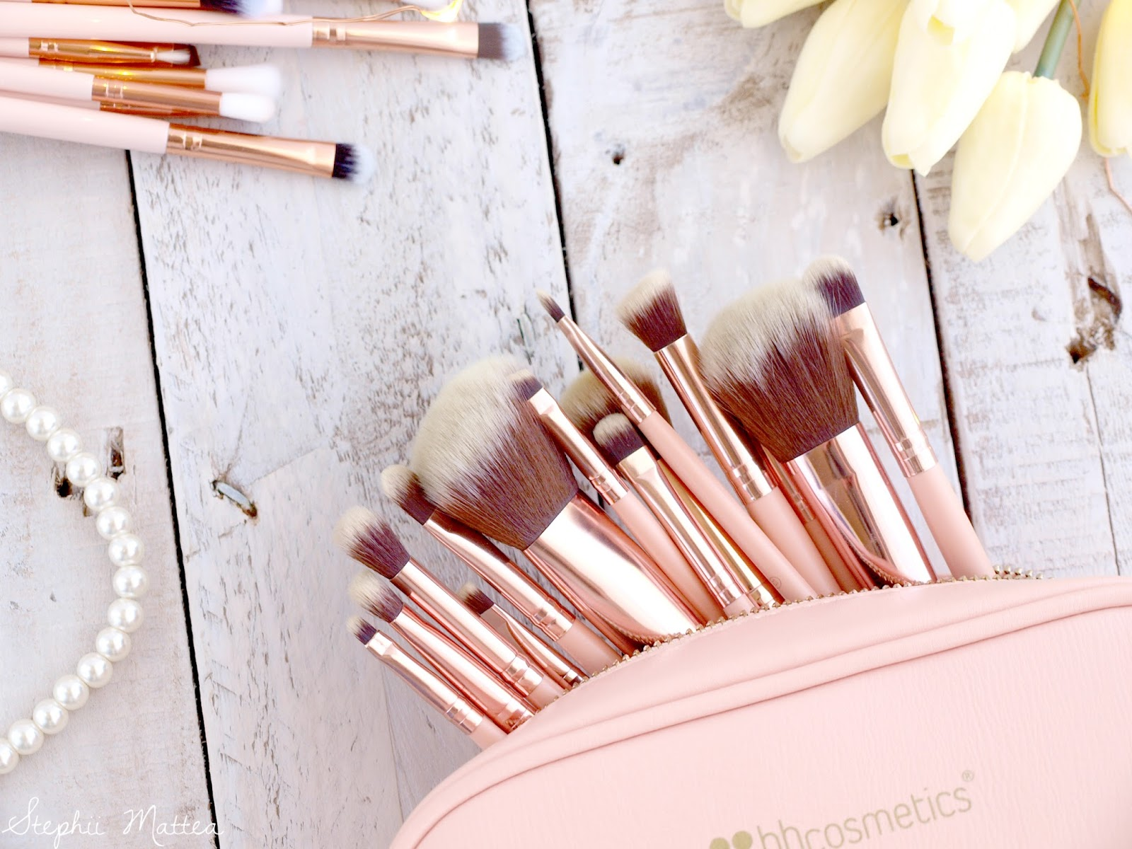 bh cosmetics rose gold brushes review