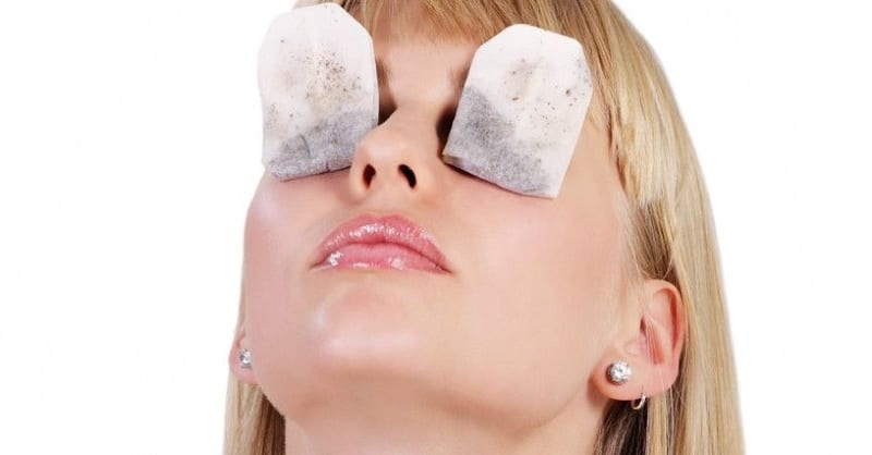 green tea bags on eyes review