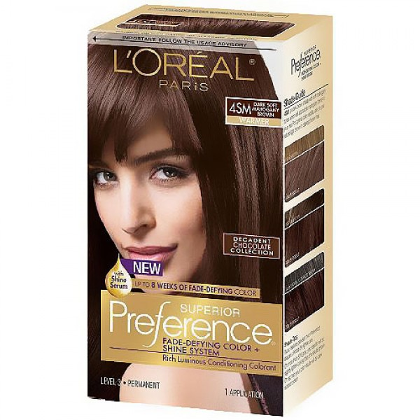 loreal dark soft mahogany brown reviews