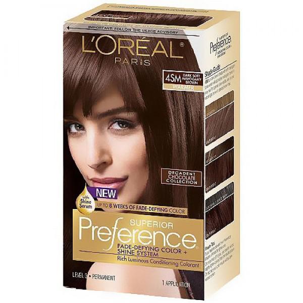 loreal dark soft mahogany brown reviews