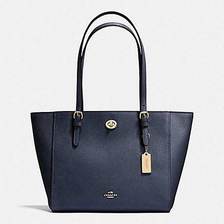 coach turnlock tote in crossgrain leather review